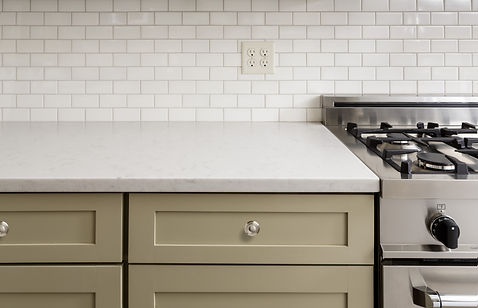 Kitchen Counter with Subway Tile, Stainl
