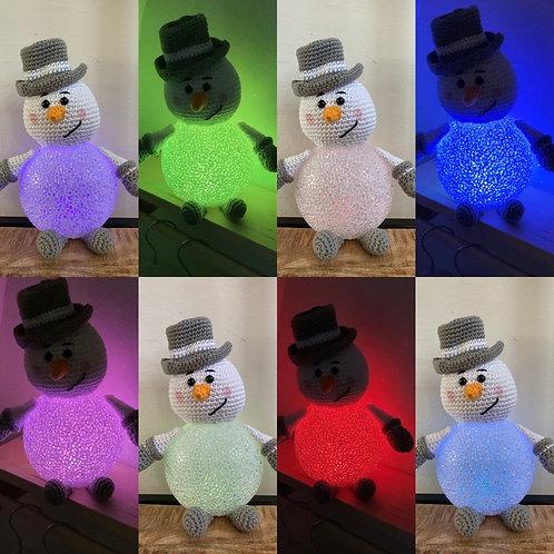 Sneeuwpop nachtlampje