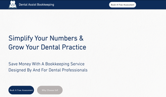 Landing Page, Dental Assist, Bookkeeping