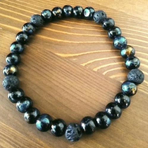 Moonlight Lava - Man's Bracelet