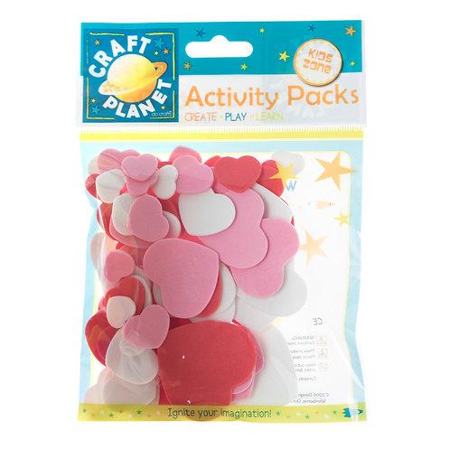 Craft Planet Kids Zone Activity Packs - Foam Hearts