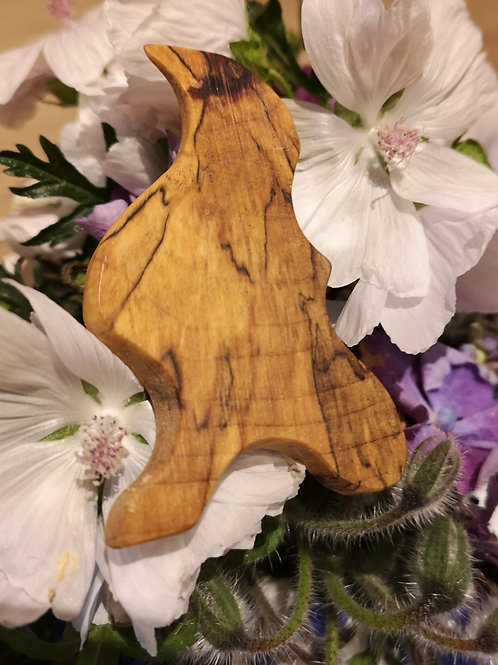Spalted Beech Brooch/Scarf Pin #1