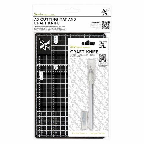 Xcut A5 Cutting Mat & Craft Knife