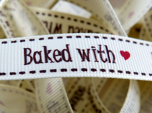 'Baked with...' Grosgrain Ribbon