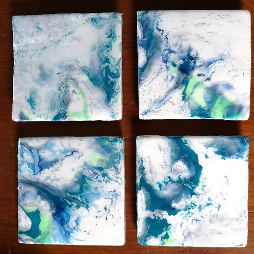 Fluid Art Coasters
