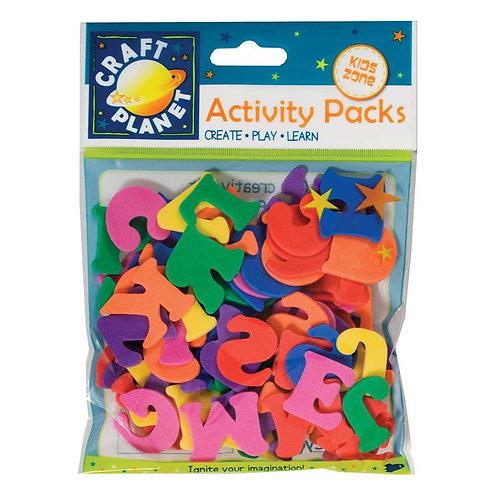 Craft Planet Activity Packs - Foam Letters