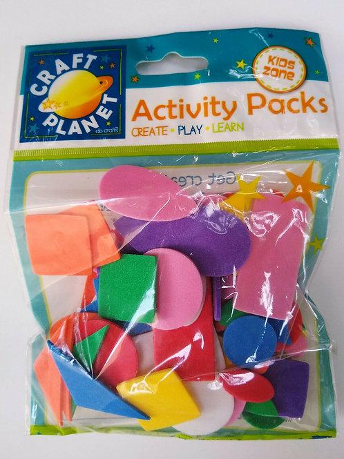 Craft Planet Activity Packs - Foam Shapes