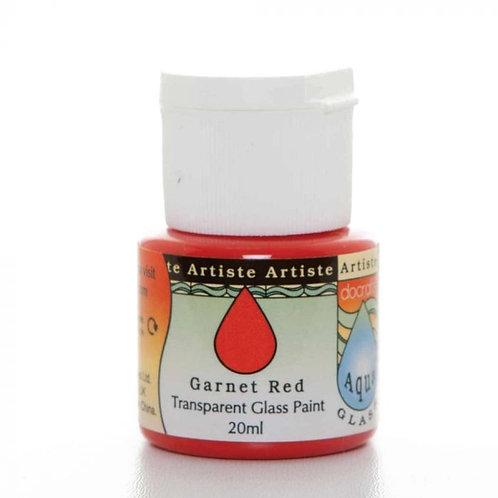 Artiste Glass Paint - Garnet Red