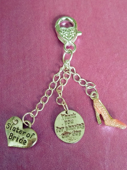 Sister of the Bride Charm