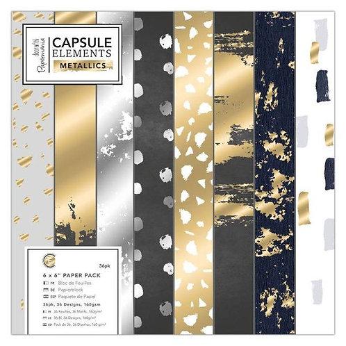 docrafts Papermania Capsule Elements - Metallics