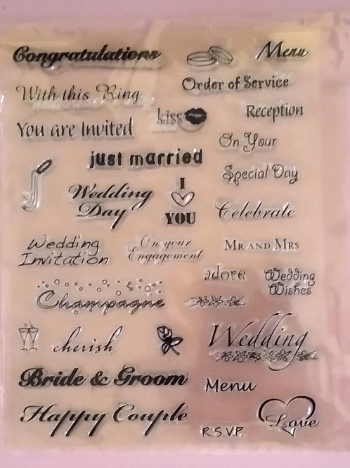 Card Making Rubber Stamps - Weddings