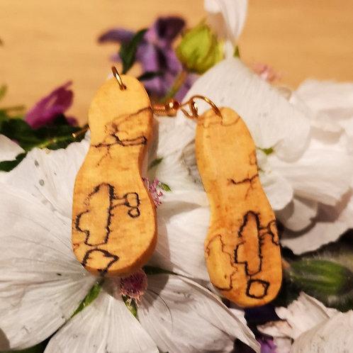 Spalted Beech Earrings #2