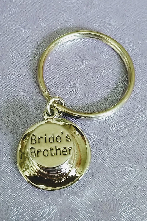 Bride's Brother Top Hat Keyring