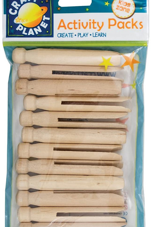 Craft Planet Kids Zone Dolly Pegs