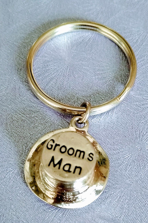 Groom's Man Top Hat Keyring