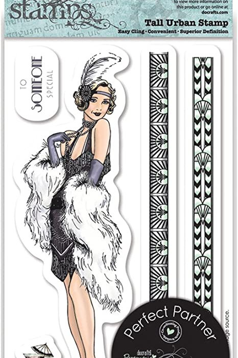 Papermania Urban Stamps 1920s Flapper