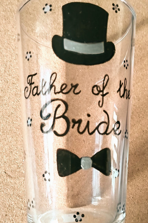 Father of the Bride Pint Glass
