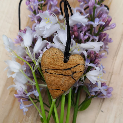 Spalted Beech Pendant #11
