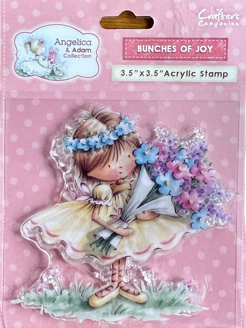 Crafter's Companion Angelica & Adam Bunches of Joy Stamp