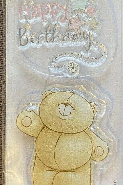 docrafts Forever Friends Happy Birthday Stamp