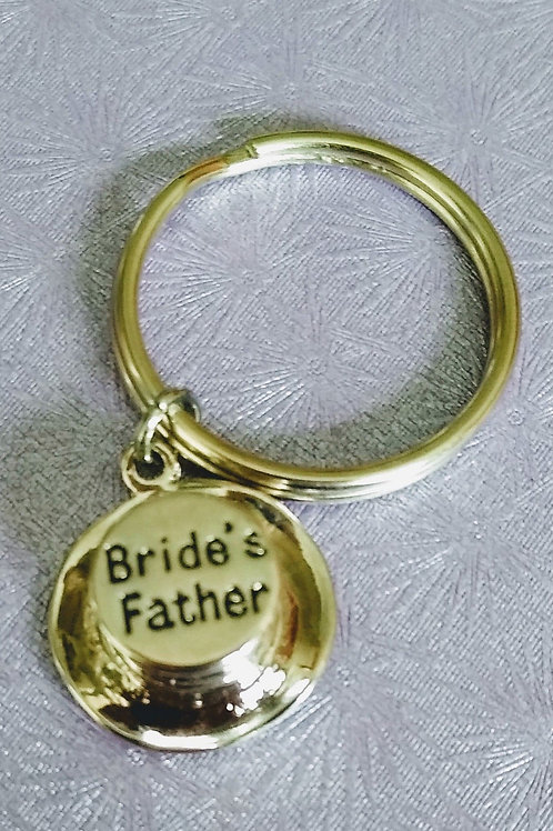 Bride's Father Top Hat Keyring