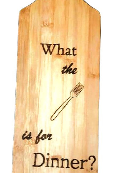Bamboo Cutting Board (Fork)