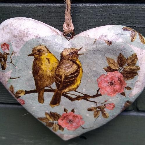 Decoupaged Heart