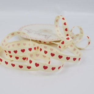 Red Hearts Grosgrain Ribbon