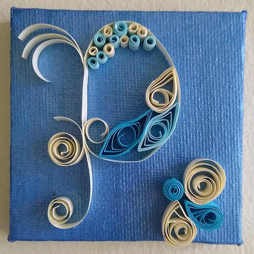 Quilled Initial Canvas