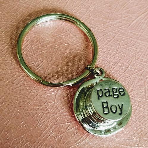 Page Boy Top Hat Keyring
