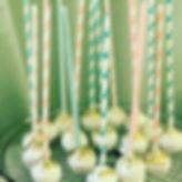 French vanilla cake pops, raspberry maca