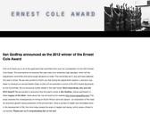 ERNEST COLE AWARD 2012