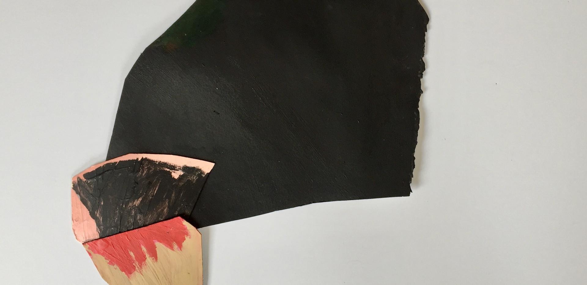 L.Shapiro,Not So Heavy,acrylic on paper,
