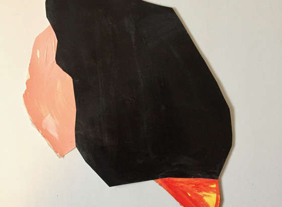 L Shapiro,Point he Way,24x20,acrylic on