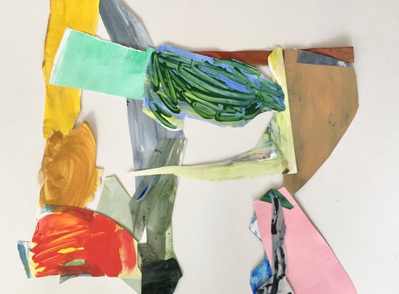 L.Shapiro,Square Dance, acrylic on paper