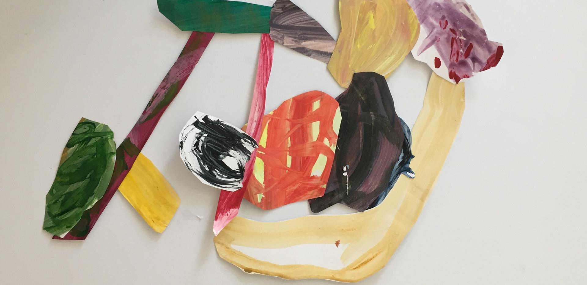 L.Shapiro,Step Off, acrylic on paper,16x