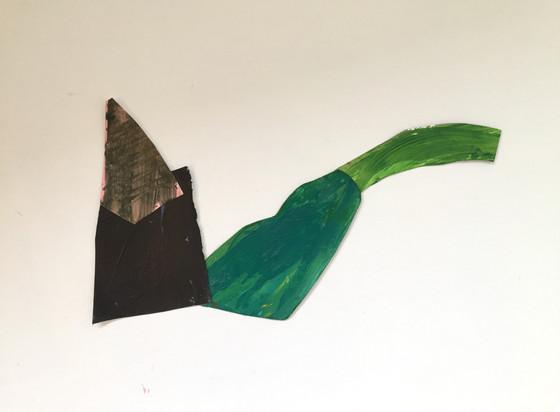 L.Shapiro,Duo,acrylic on paper, L. Shapi