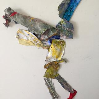 Shapiro, Gun Guy,wire mesh and acyrlic,