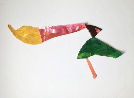 L.Shapiro, Push it,acrylic on paper,23x1