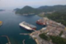 船舶の修理・改造(航空写真)