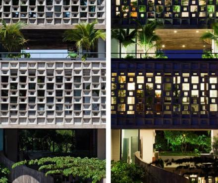 Gạch bông gió trang trí cho thiết kế nhà ở đẹp tự nhiên