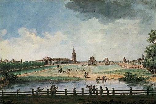балтазар Де Ла Траверс 1790-е вид имения