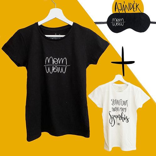 Póló + Szuperhős póló csomag ajándék szemmaszkkal