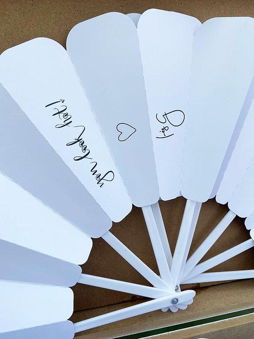 Papír, Egyedi, kézzel írt legyező