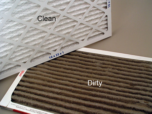 Dirty vs. Clean HVAC filter