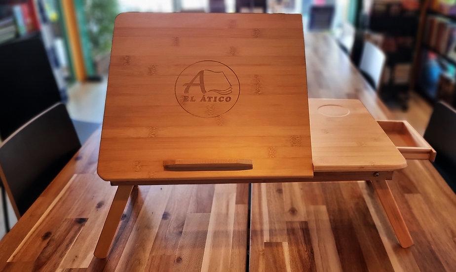 Mesa de lectura para cama en bambú