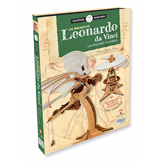 Los ingenios de Leonardo da Vinci - Libro + piezas