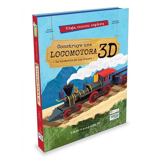 Construye una locomotora 3D - Libro + piezas