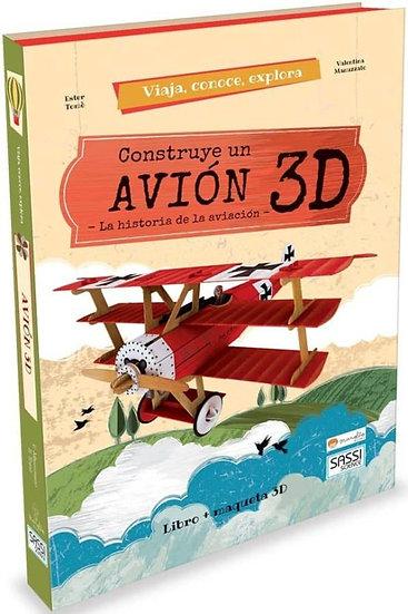 Construye un avión 3D - Libro + piezas