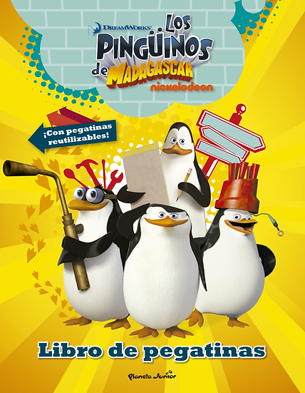Pingüinos de Madagascar - pegatinas reutilizables